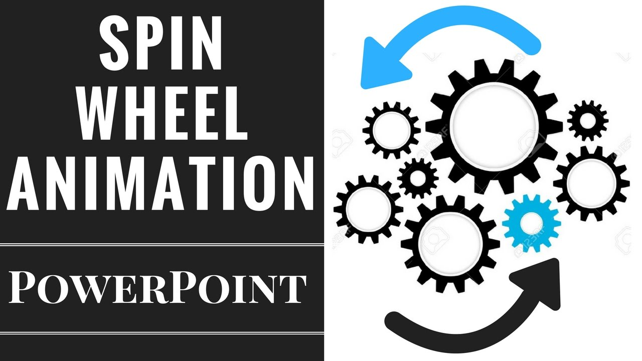 powerpoint spining wheels animation tutorial - youtube, Powerpoint templates
