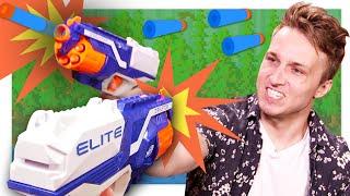 CRAZY NERF WAR VIDEO GAME CHALLENGE