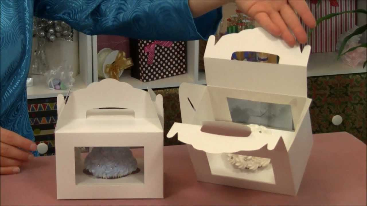 window gable cupcake box with insert youtube