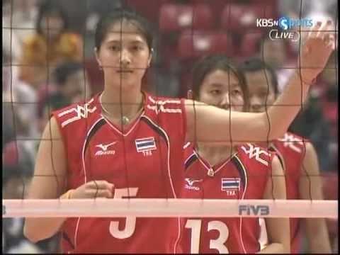 2008 FIVB Women's World Olympic Qualification Tournament : THAxKOR 3SET