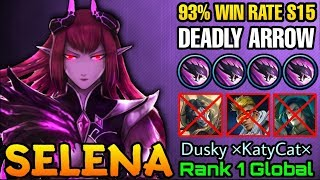 Selena 93% Win Rate S15 Unstoppable Abyssal Arrows - Top 1 Global Selena Dusky ×KatyCat× - ML