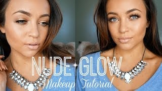 Nude Glow Makeup Tutorial ♡ (Full Face) Thumbnail
