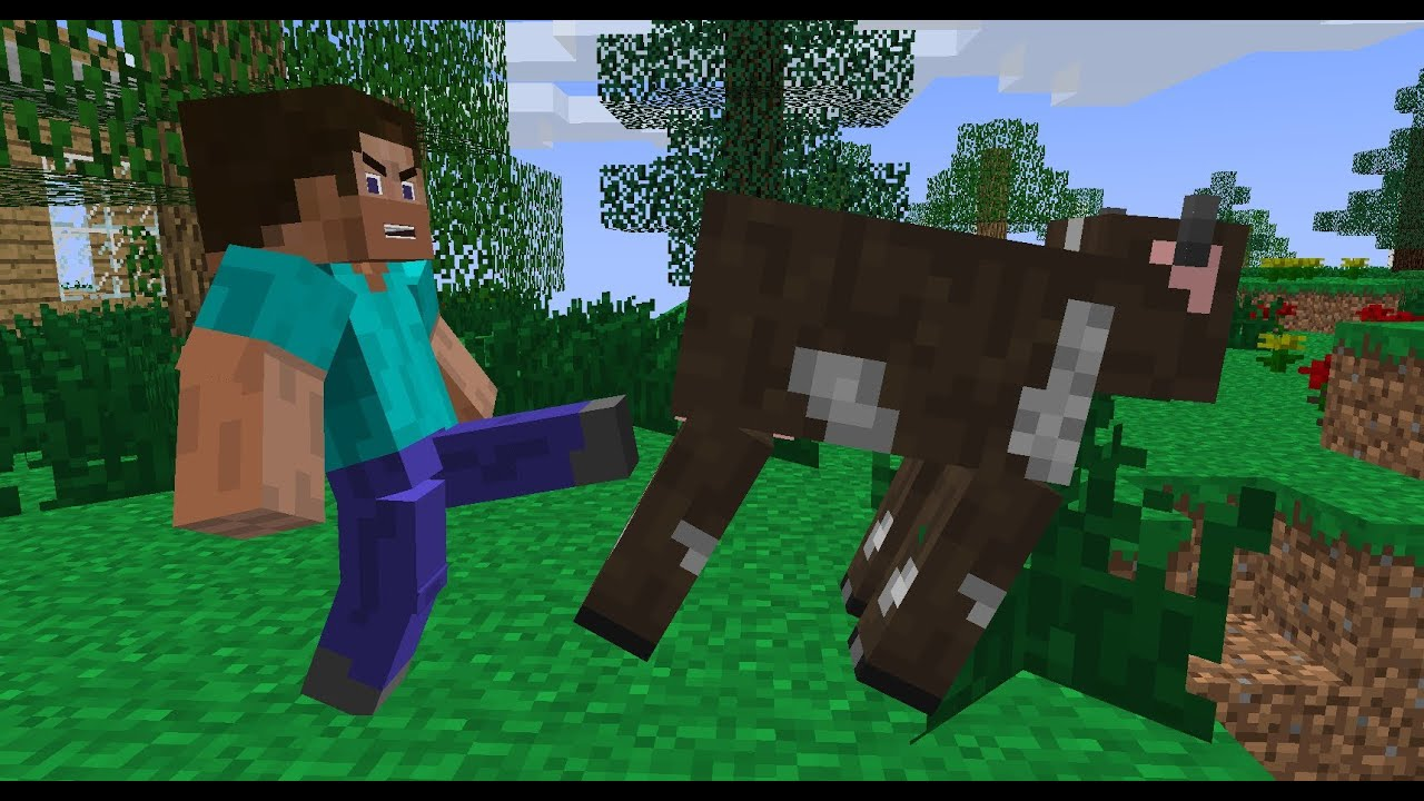 Killing That Cow  Minecraft Animation  YouTube