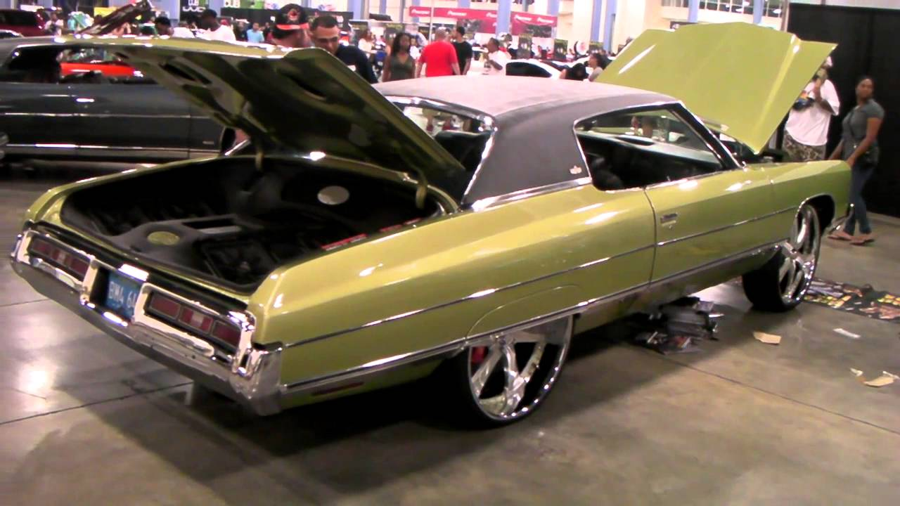 Www Dubsandtires Com 1973 Chevy Impala Review 24 Custom Machined Silver Wheels