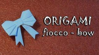 Origami, tutorial fiocco di carta - paper bow- ribbon