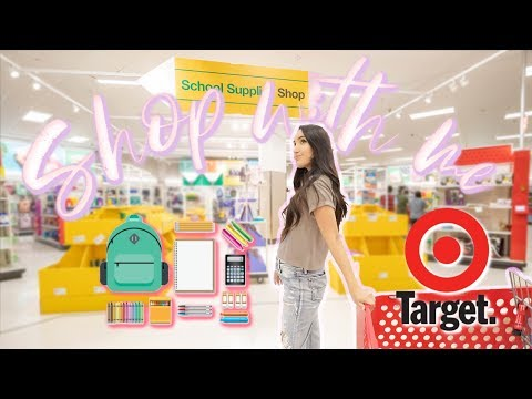 TARGET Back To School Shop With Me!