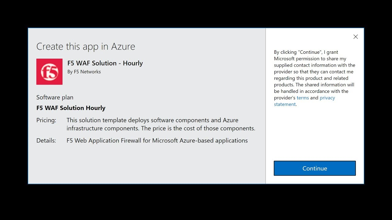 F5 WAFaaS in Azure Preview
