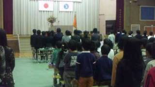 親子3代の母校の卒業式.