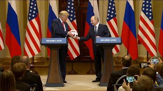 Soccer Ball Given to Trump by Vladimir Putin Has Electronic Chip Inside