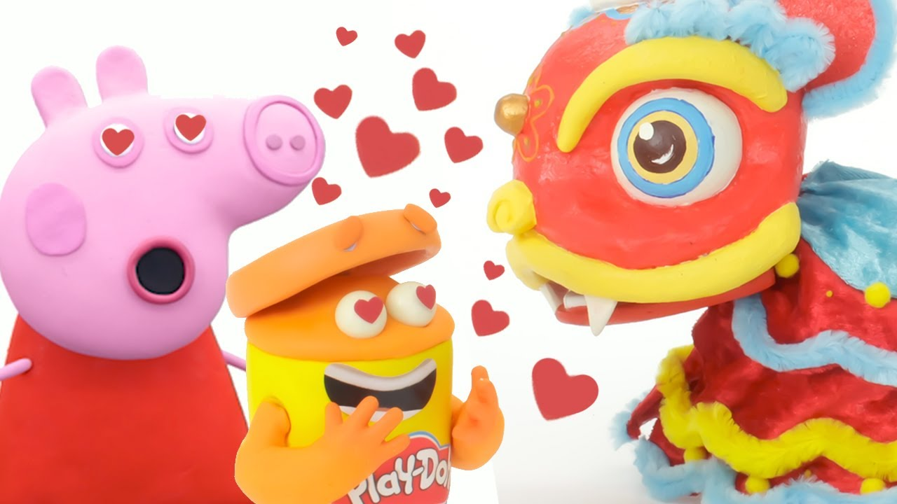 Peppa Pig and the Doh-Dohs Dragon Dance   Chinese New Year   Play-Doh Show   Play-Doh Official