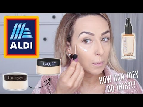 TESTING ALDI MAKEUP | FIRST IMPRESSIONS, HIGH END DUPES? thumbnail