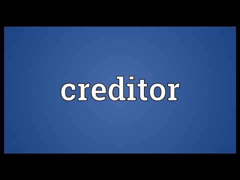 Creditor Meaning