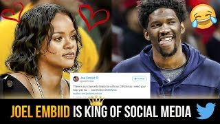 "Hilarious social media posts by joel ""the process embiid"" twitter and instagram hof!!"