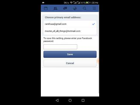 How to change facebook email phone number