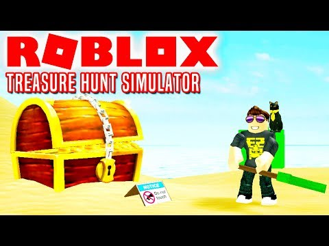 Skatte Under Sandet! - Roblox Treasure Hunt Simulator Dansk Ep 1