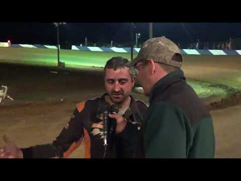 Pat Bealer in victory lane at Path Valley 3-31-18