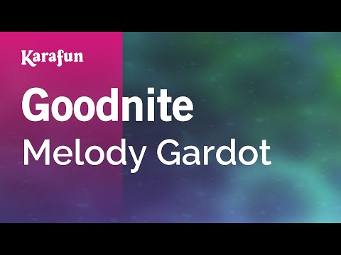 Karaoke Goodnite - Melody Gardot *