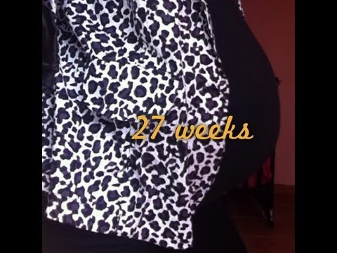 26-27 weeks pregnant with twins!+belly shot