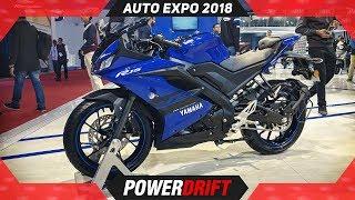 2018 Yamaha R15 V3 @ Auto Expo 2018 : PowerDrift