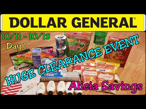 Crazy Overage !! Clearance EVENT Day 1 | Dollar General Clearance EVENT 10/11 - 10/13