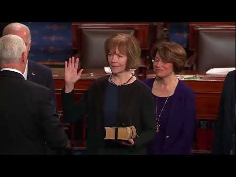 Tina Smith Sworn In As Al Franken's Replacement In Senate - Full Ceremony