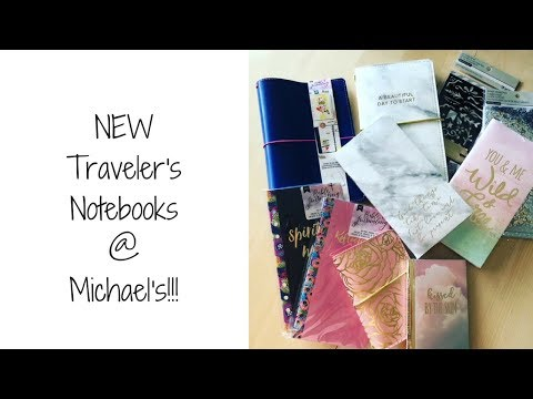 NEW Traveler's Notebooks at Michael's!!!