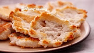 Cách Làm BÁNH QUY DỪA Không Lò Nướng Giòn Rụm Thơm Ngon | Nhung Cooking
