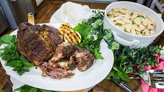 Carla Lalli Music's Slow Roasted Lamb & Beans with Special Green Sauce - Home & Family