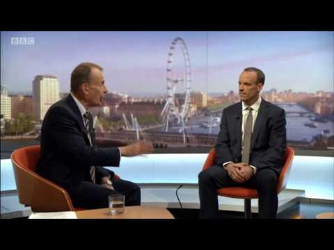 Brexit Secretary Dominic Raab speaks to Andrew Marr