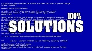 How to fix Blue screen Errors in windows 7,8 all computing format [Permanent Solution](, 2014-09-03T08:25:26.000Z)