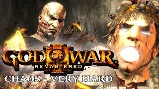 GOD OF WAR 3: CHAOS Very Hard Speedrun Sem Upgrade e Sem Glitch treino 1parte - 3:55:00