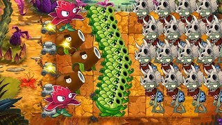 Pvz 2 - Coconut Cannon, Red Stinger and Sling Pea