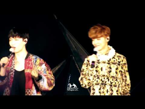 [Whisper]140614 EXO The Lost Planet in Wuhan Talking2 LAYHAN focus