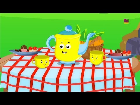 Ich bin ein wenig Teekanne | Kinderzimmer Reime für Kinder | Toddlers Song | I am a Little Teapot