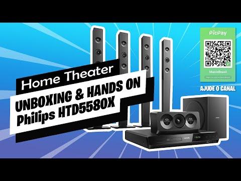Unboxing e primeiras impressões/dicas 📻 Home Theater Philips HTD5580X/78 5.1 – 1.000W [PT-BR]