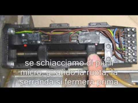 Schema Elettrico Motore Tapparelle : Come regolare un fine corsa motore serranda youtube