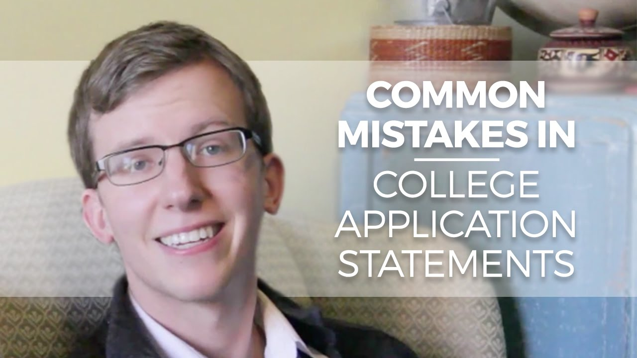 common mistakes college application essays