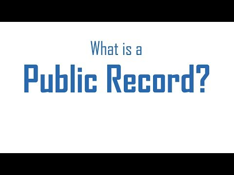 What is a public record in Tennessee?