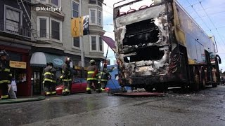 Tour Bus Blaze in San Francisco.