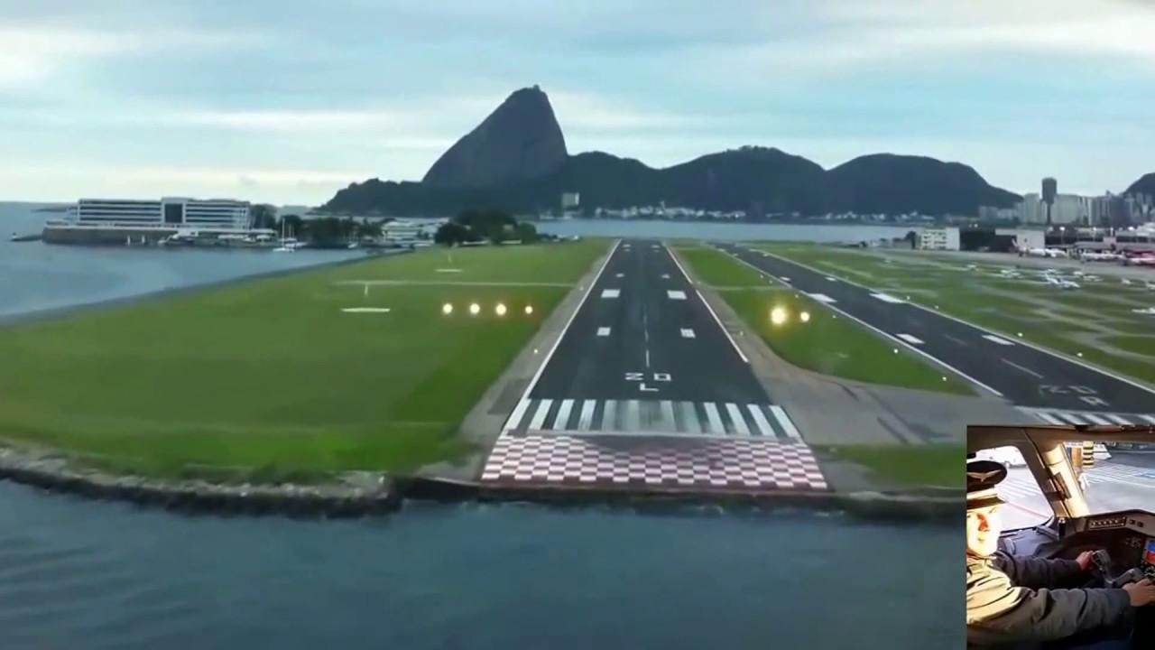 Aeroporto Santos Dumont : Aprox e pouso aer st dumont rio cab cmdo youtube