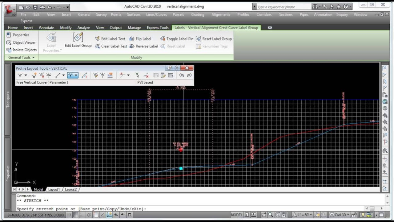 AutoCAD Civil 3D - Vertical Profile