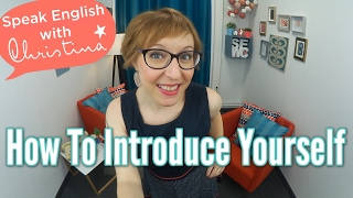 How to introduce yourself - Business English & Small Talk lessons