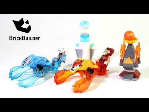 Lego Chima Speedorz 70156 Fire Vs Ice Build and review