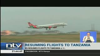 KQ resumes flights to Tanzania
