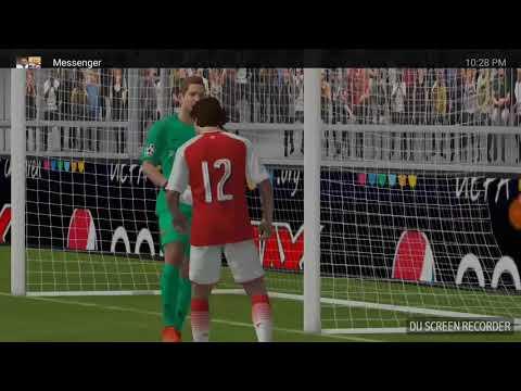Pes 2018 game  Barcelona vs Asernal