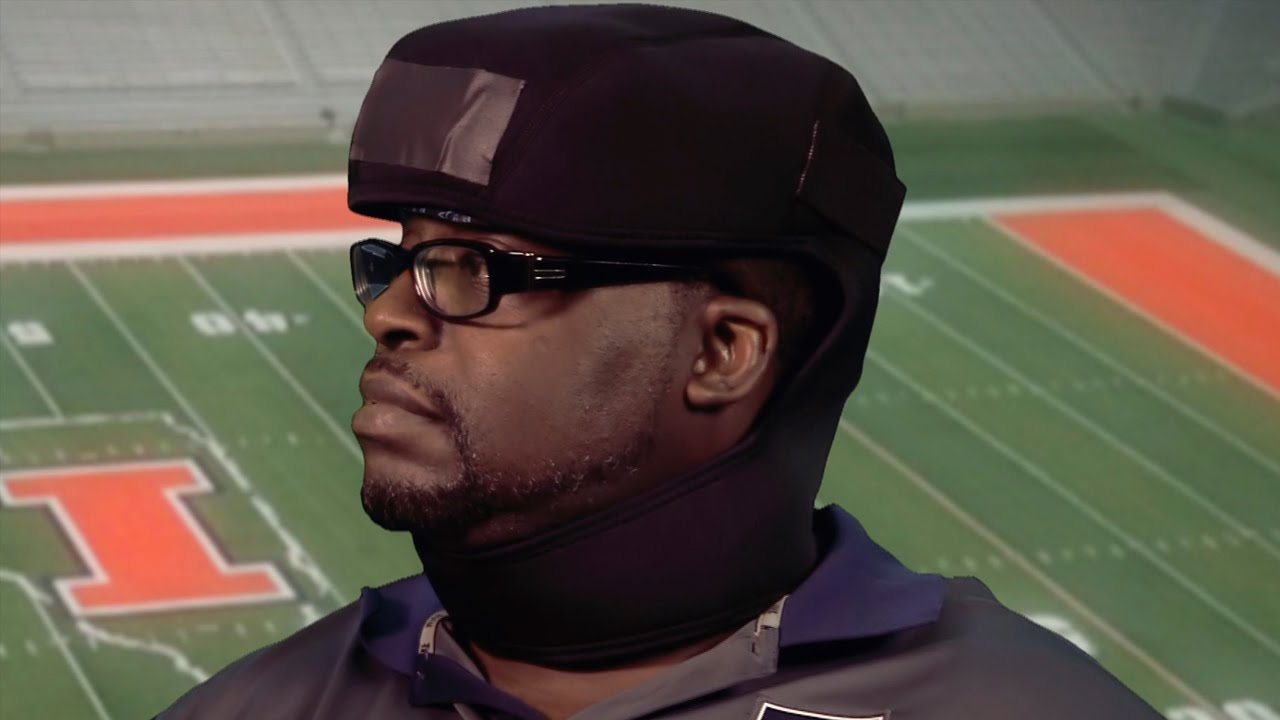 A screenshot from Concussion: Using Cooling Helmets to Combat Brain Injuries in College Football
