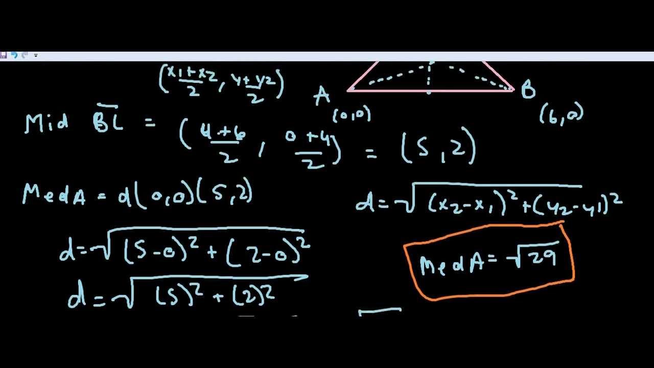 Midpoint Formula Word Problem Youtube