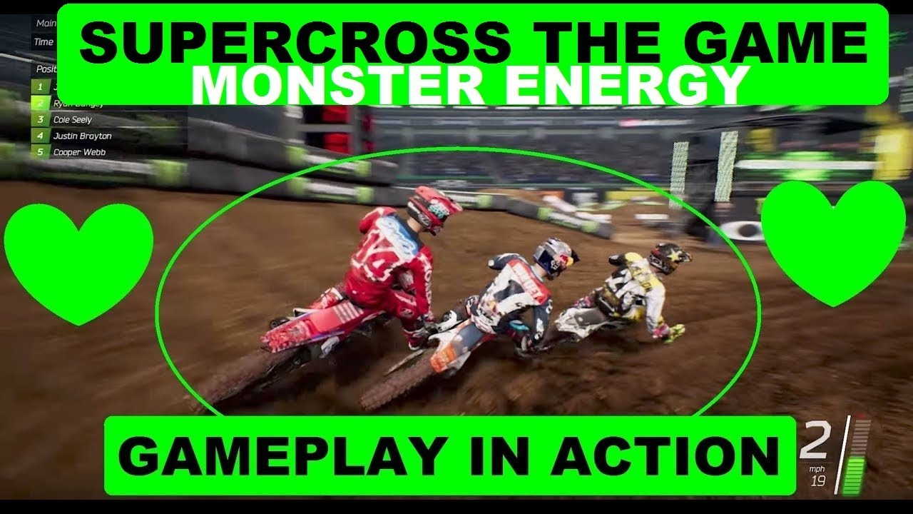 supercross the game gameplay monster energy ps4 youtube. Black Bedroom Furniture Sets. Home Design Ideas