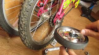 як встановити бічні колеса на дитячий велосипед (додаткові коліщата)