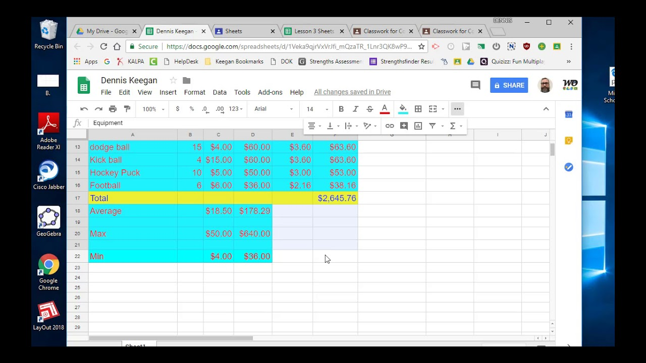 Google Sheets 3 Sum, Coloring, and text color - YouTube